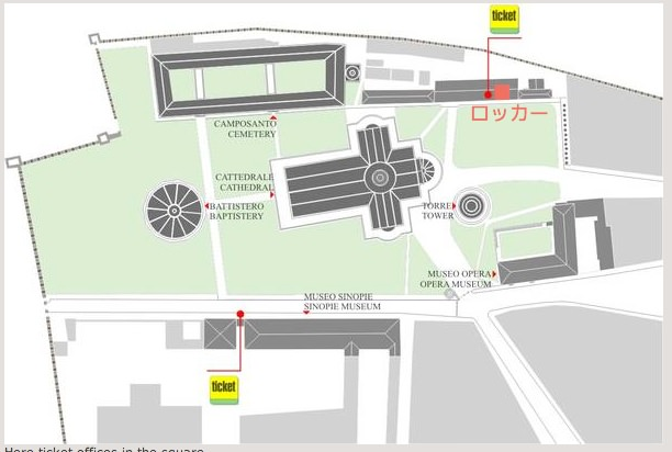 ピサの斜塔 地図