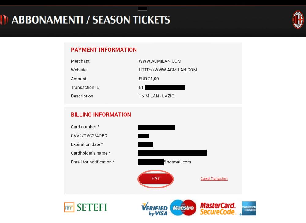 acミラン チケット購入方法 決済