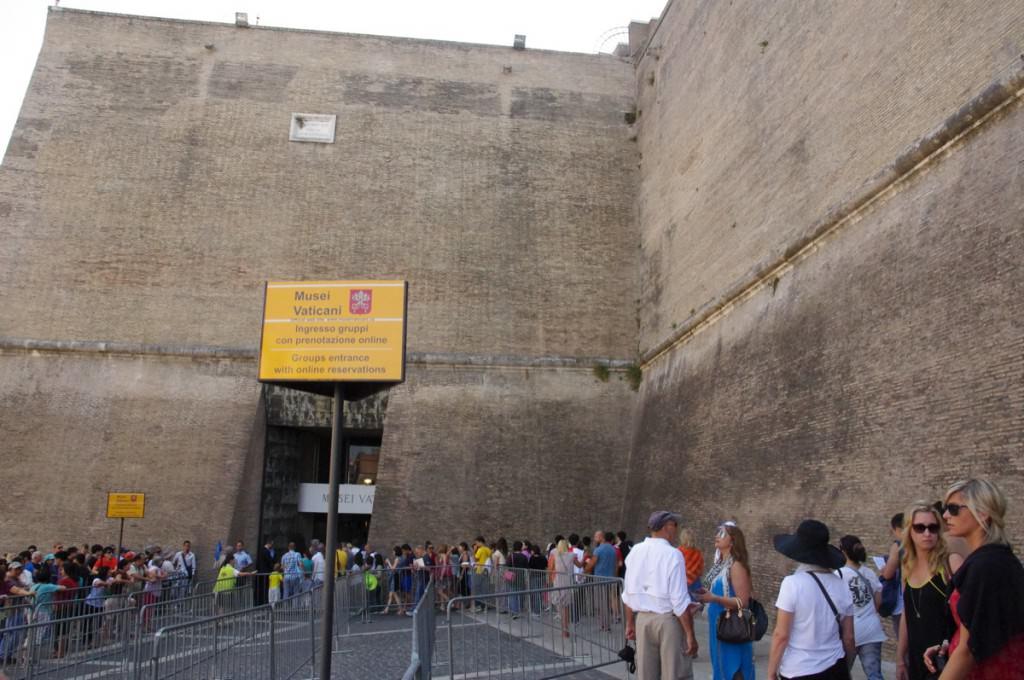 バチカン美術館 入口