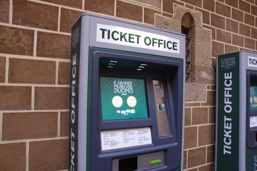 ドゥオーモ共通券 自動販売機